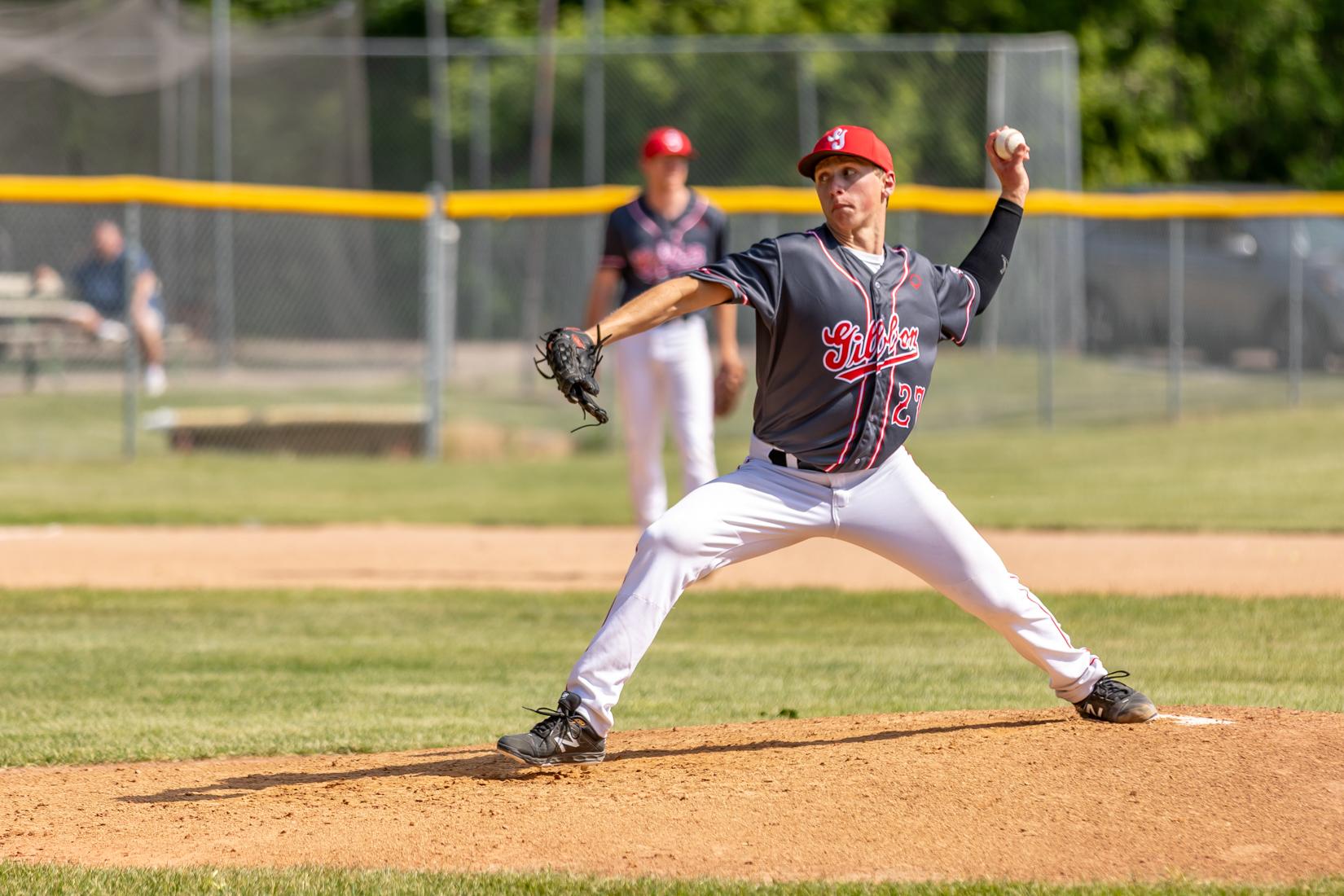 Pitcher Devon Schwarzrock throws some heat.
