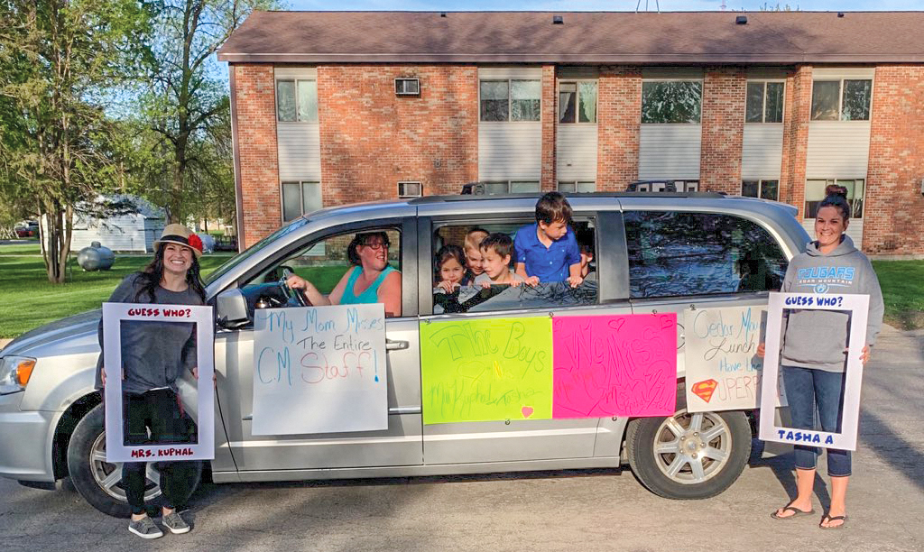 Cedar Mountain Elementary held a car parade to celebrate the school year and cheer on their families! This has been an unusual school year and Friday would have been their 'End of the Year Dance'.  The staff misses their students and wanted to show appreciation to them and their families for continuing to work hard this spring! (Submitted Photos)