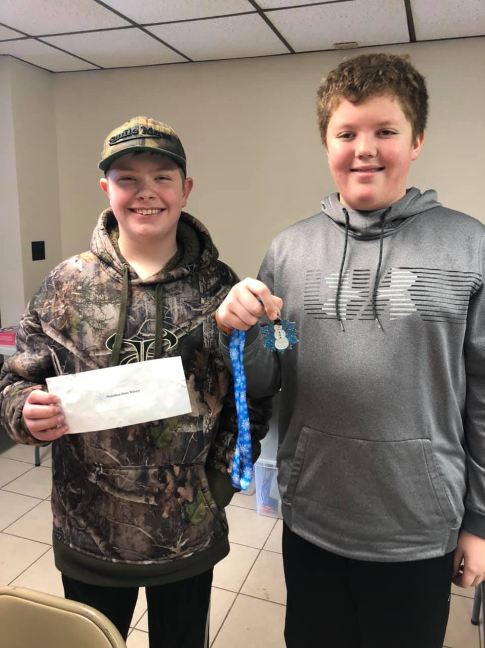 Medallion Hunt Winners Lincoln and Ryan