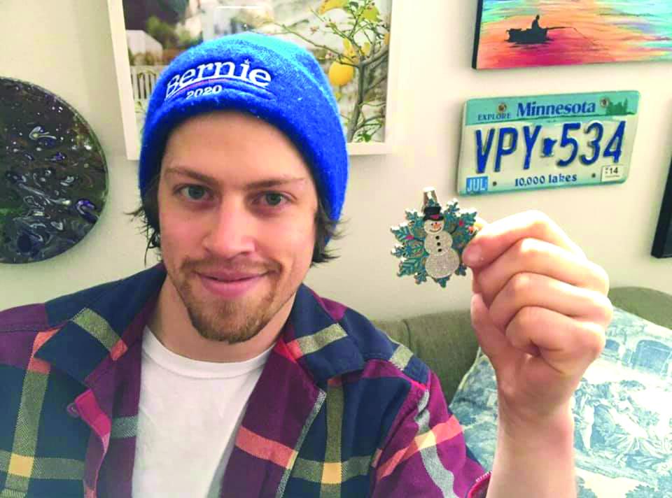 Sam Gatton found the Winterfest Medallion at the Gibbon Library.