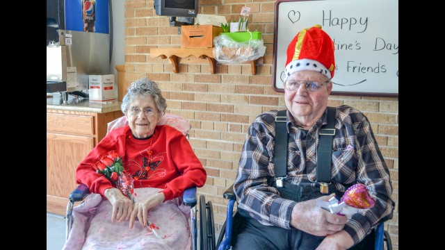 Fairfax Community Home celebrated Valentine's Day with a sweetheart and friends dinner.  Coronation of the king and queen followed with music by Ron and Kathy Robinsons and delicious cupcakes from our local bakery. Pictured are the 2020 Fairfax Community Home Valentine's King and Queen Melroy and Selma. (Submitted photo)