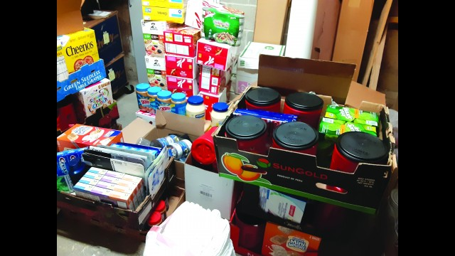 GFW Special Education Teacher Sharon Fossum collects food and other items for area families in need.  (Submitted photo)