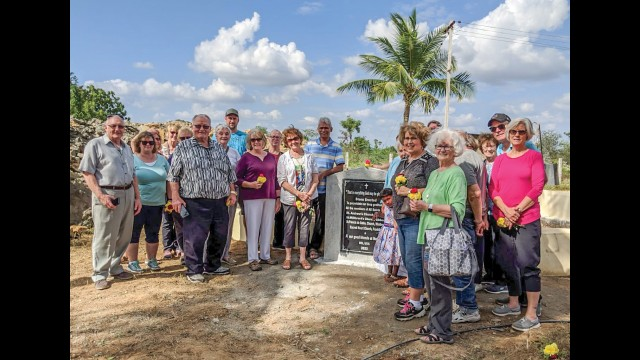 On a recent trip to India, a group of about 20 people from Fairfax, Gibbon, Winthrop and New Ulm, led by Father Bruno Santiago, visited a well that was financially supported by the All Saints Area Parish. Pictured above is the group near the well.