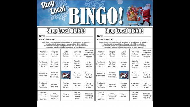 Shop Local BINGO cards are available in this week's edition of the Standard-Gazette & Messenger.