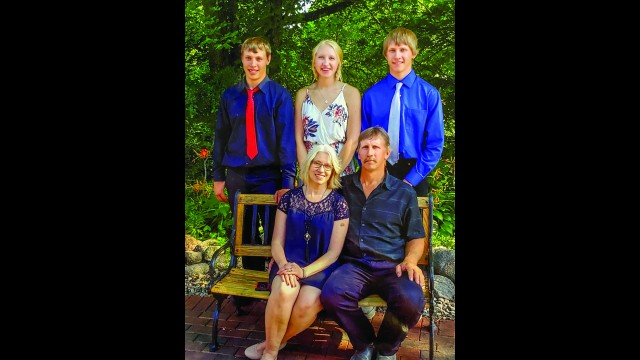 The Zeug Family of rural Morgan was recently named the Redwood County U of M 2020 Farm Family of the year. Pictured are (front row from left) Brenda and Paul Zeug, and their children (back row) Lance, Lauren and Matthew. (Submitted photo)