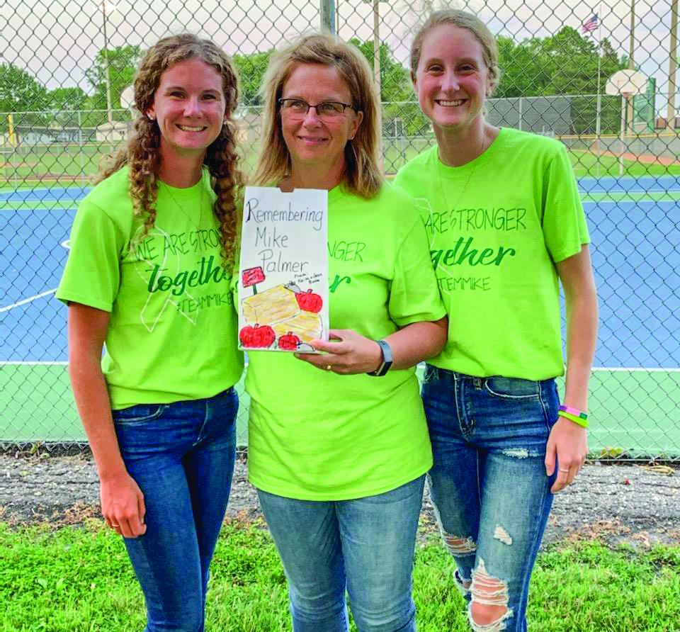 Stephanie, Jolene and Megan Palmer, remembering Mike Palmer.