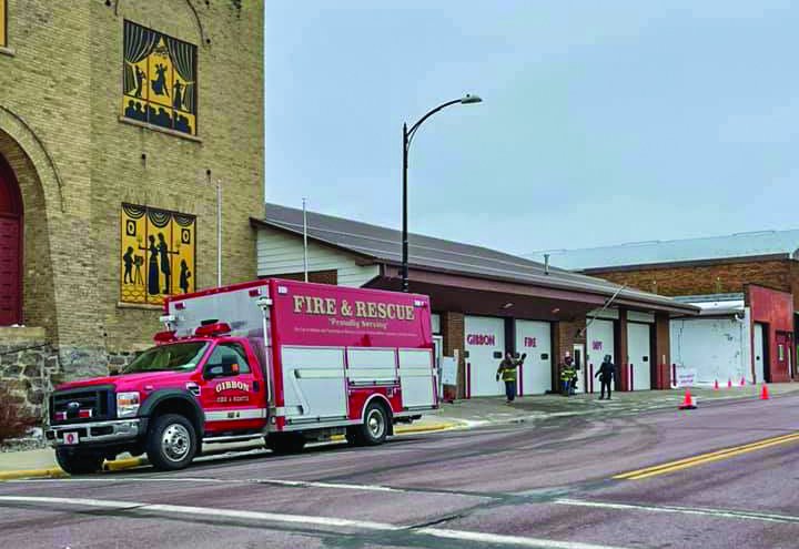 The Fire Department hosted a drive-thru chili feed Saturday morning.