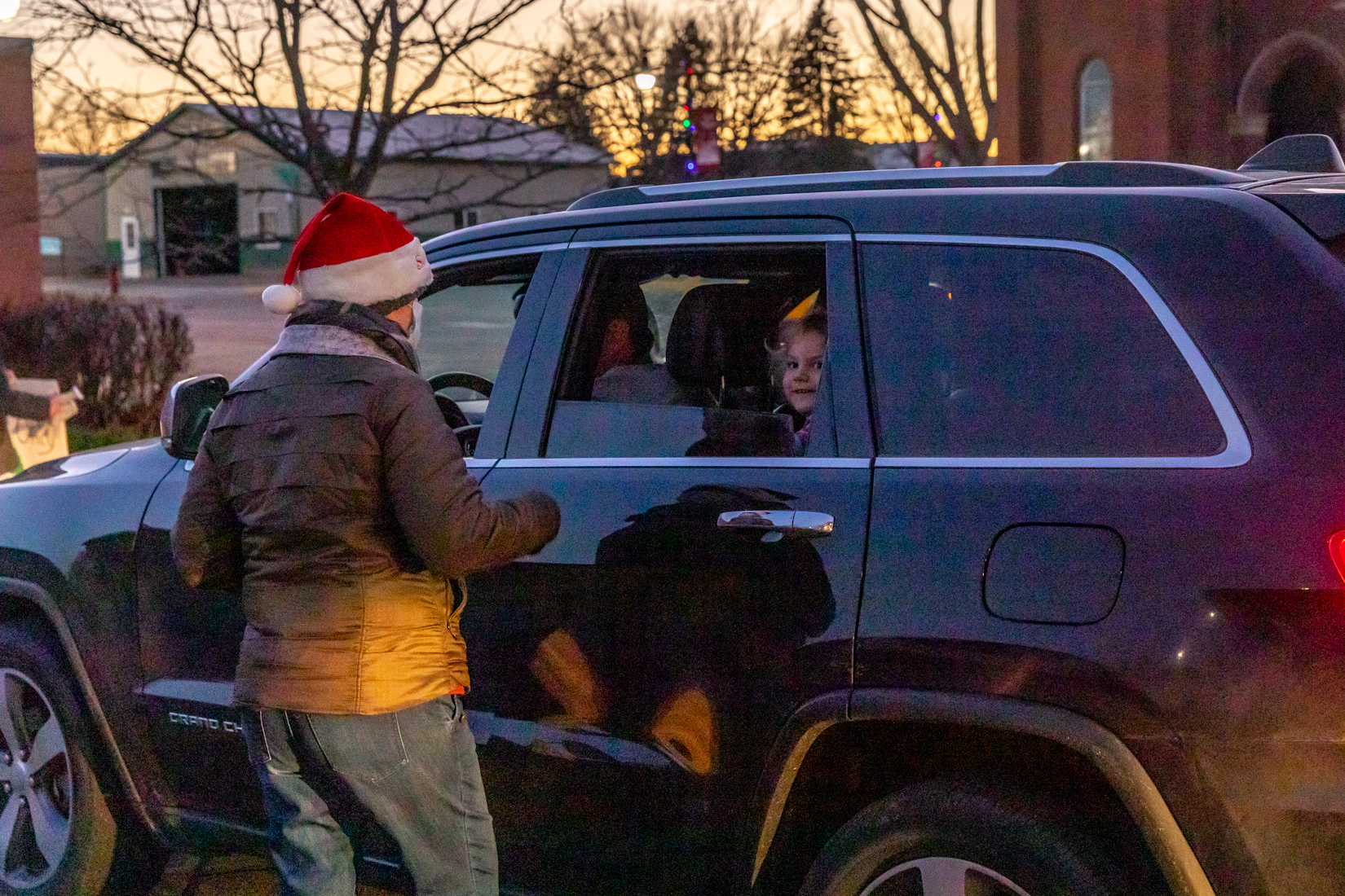 After visiting with Santa, area kids received a goodie bag.