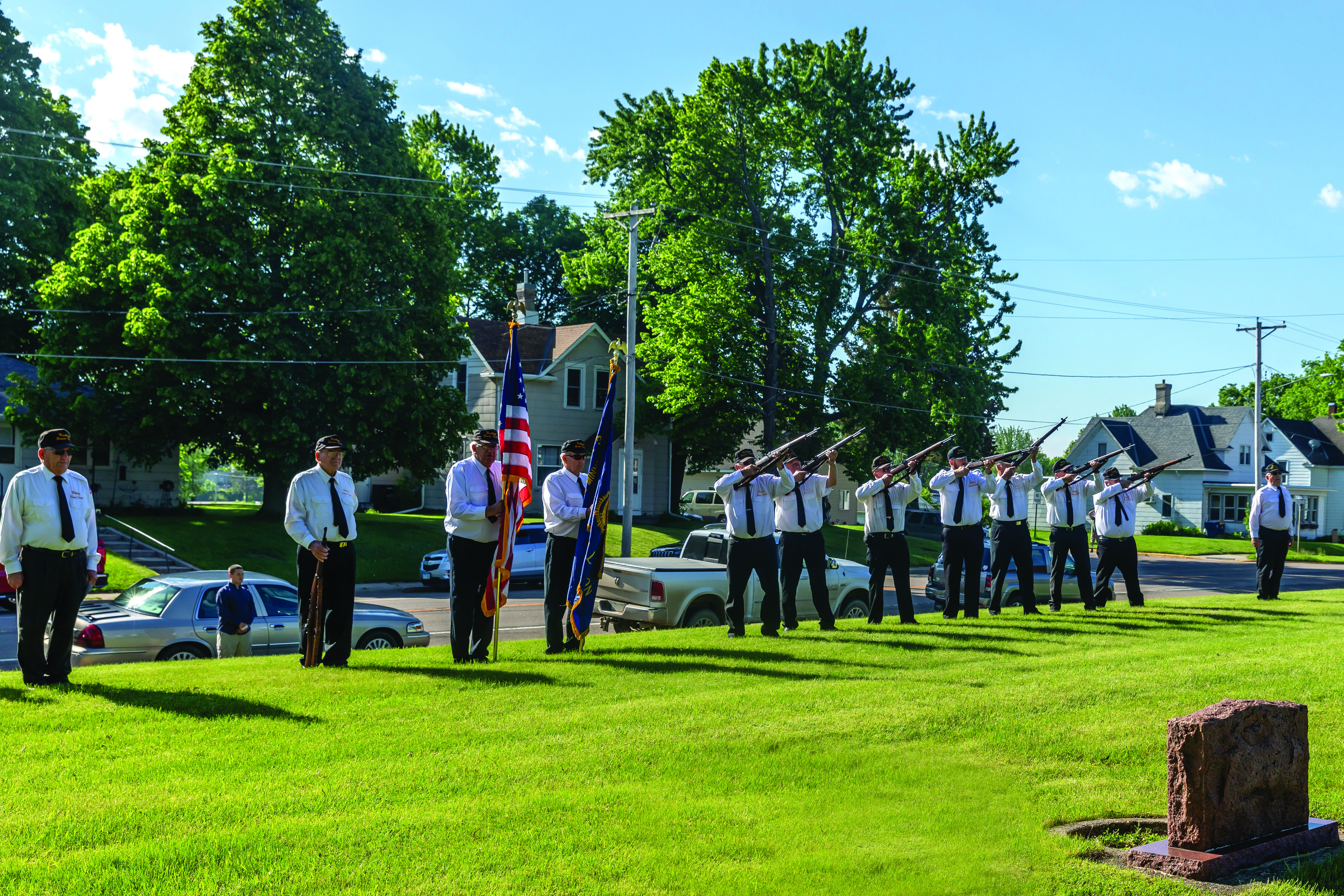 In Gibbon, the Winthrop Honor Guard traveled to area cemeteries for a short prayer, gun salute and taps.