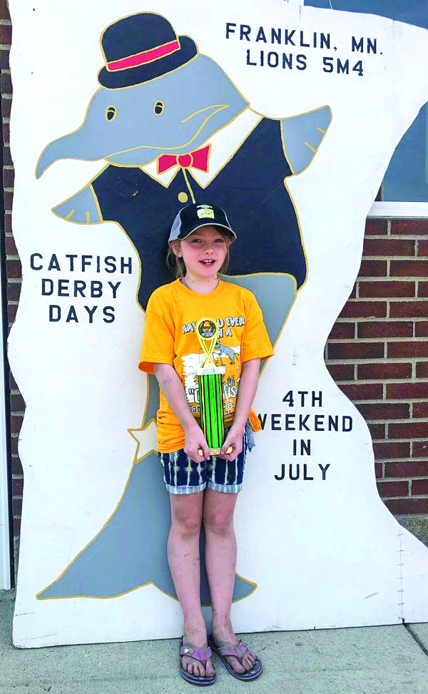 Kaylie Booth of Renville won the Junior Division with a Channel Catfish weight 15.12 pounds
