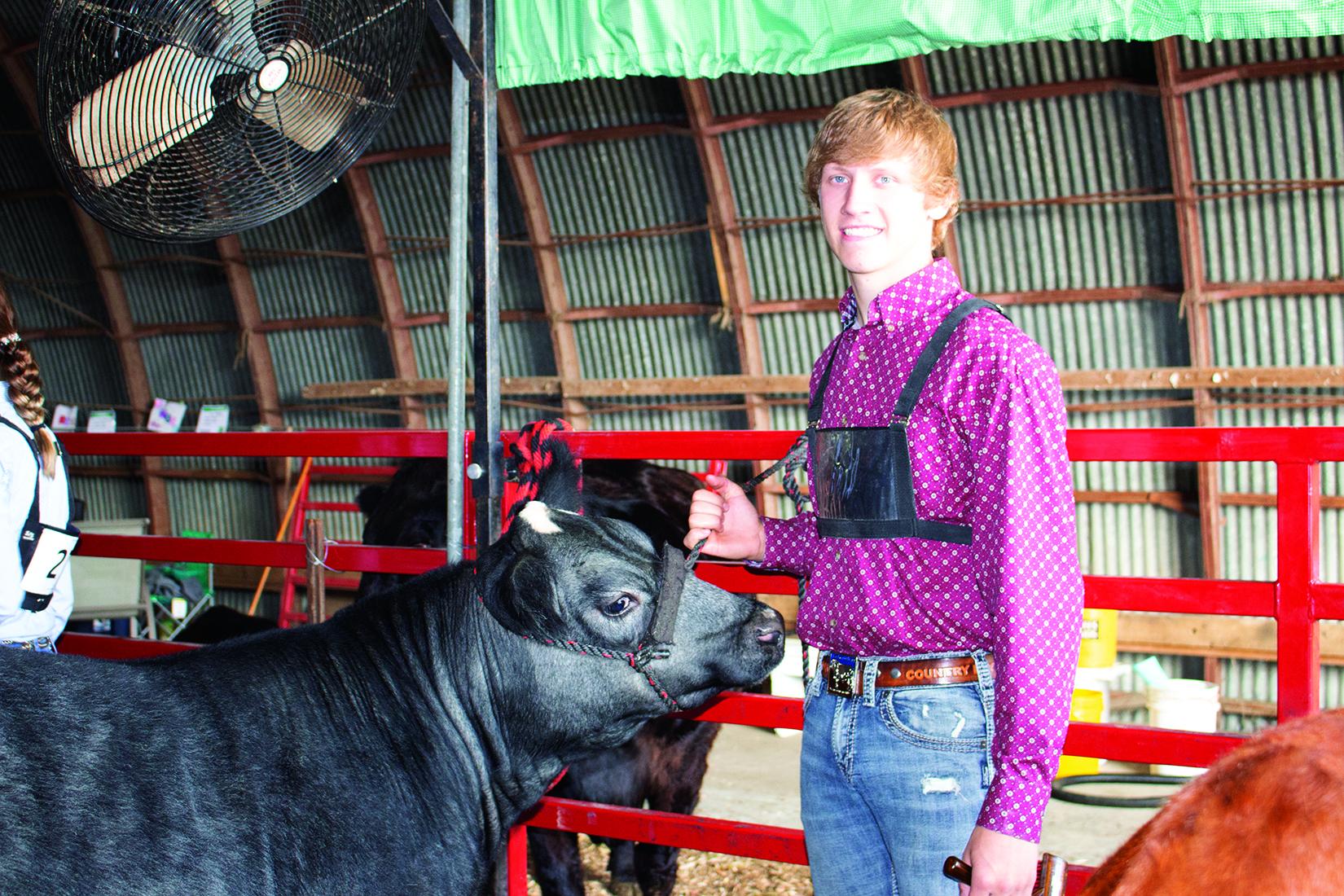 Matthew Zeug with his beef heifer.