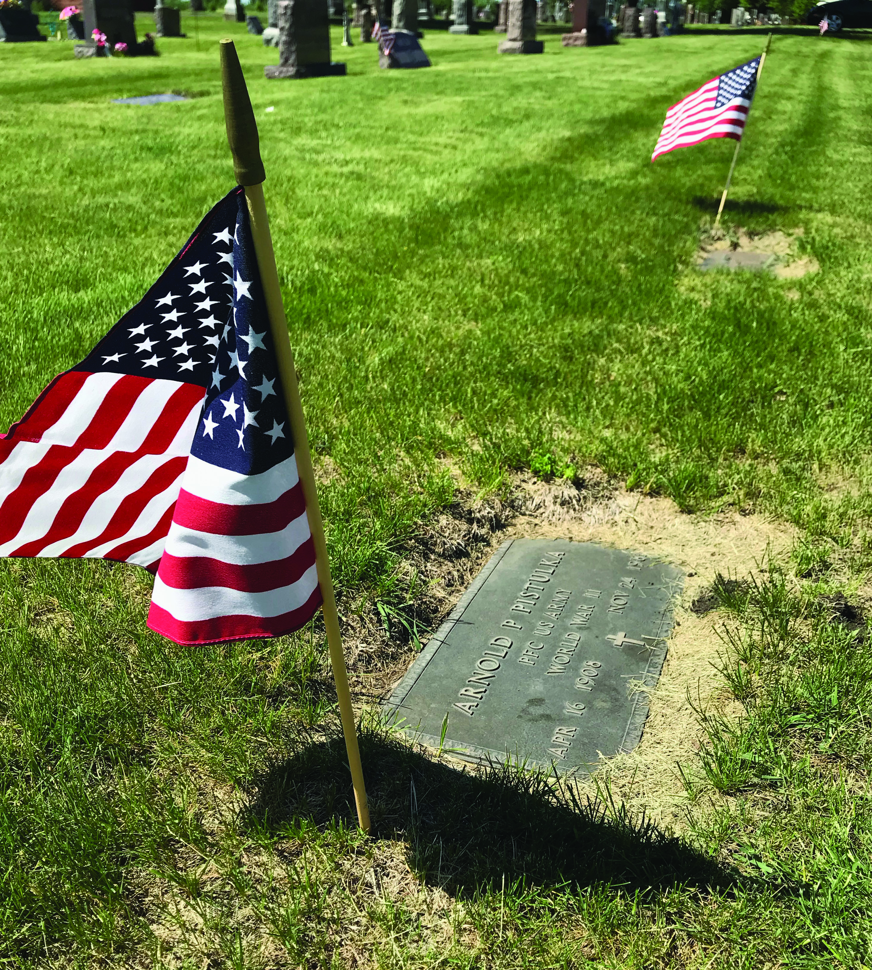 In Morgan, no program was held, but flags were placed at area cemeteries.