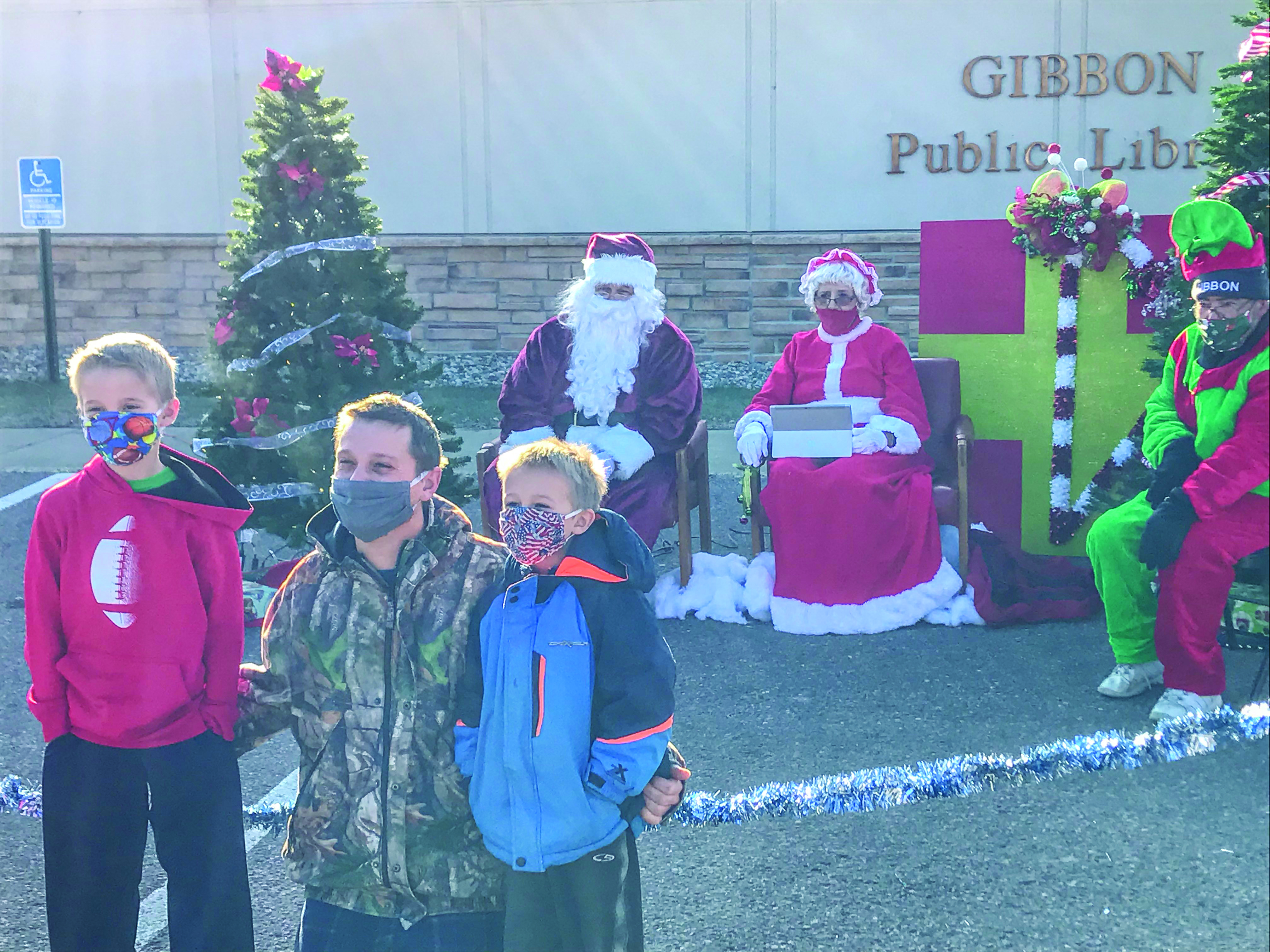 A steady stream of youngsters came to visit Santa!