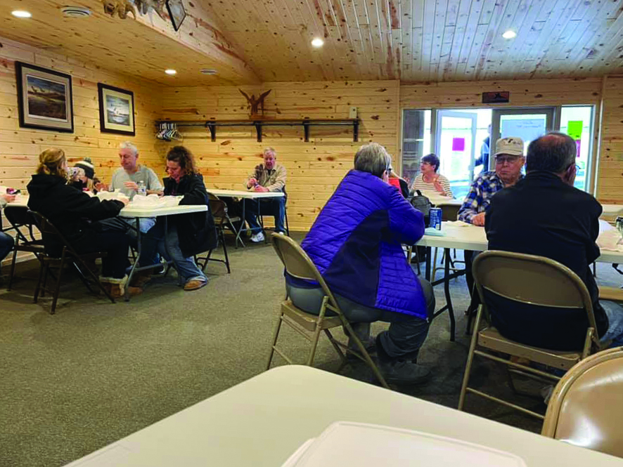 On Sunday folks headed to the Sportsman's Club at Clear Lake for food and raffle drawings, as well as some winter trap shooting.