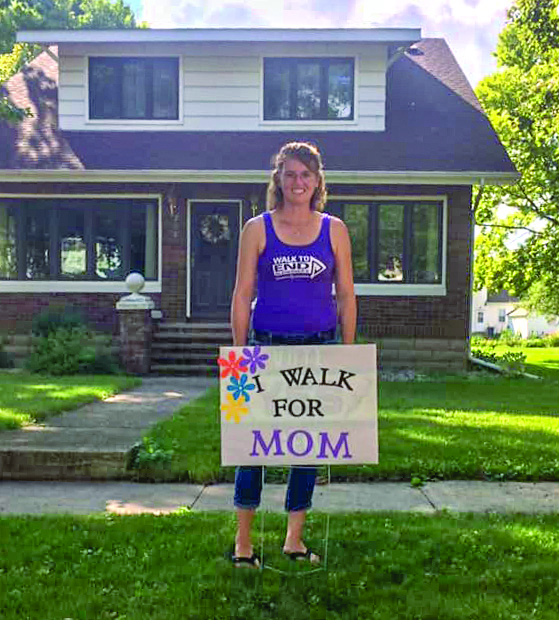 Dana (Bruns) Lietzau walks in honor of her mother.