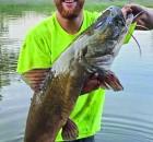 Logan Kopischke of Morgan won the 2021 Franklin Catfish Derby with this 32.92-pound Flathead.